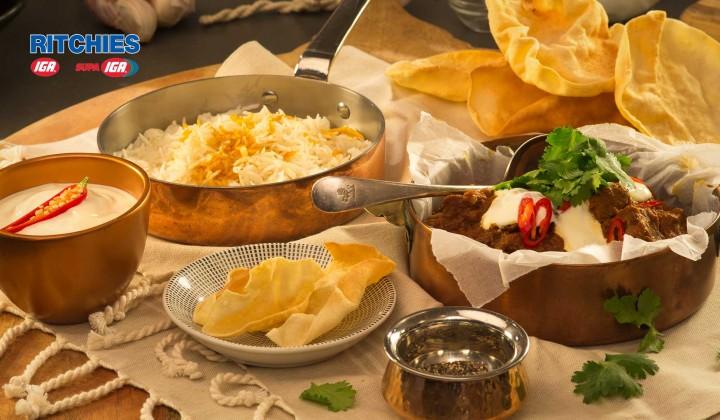 Beef masala curry