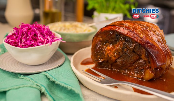 Slow roast smoky pork shoulder
