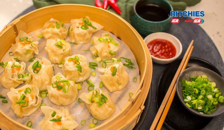 chicken ginger sui mai dumplings
